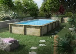 Piscina in legno wewa nella scelta di una piscina fuori terra