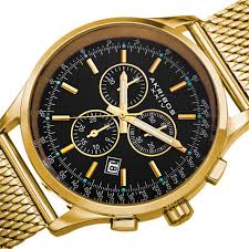 akribos xxiv mens chronograph black dial gold mesh bracelet watch akribos xxiv mens chronograph black dial gold mesh bracelet watch ak625ygb