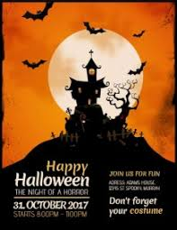 halloween template flyer free online halloween flyer maker postermywall