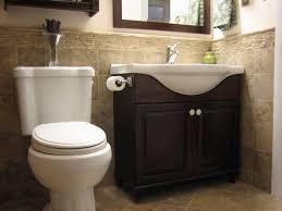bathroom oak wooden cabinet design ideas with half bathroom ideas from luxury bathroom with mosaics wall