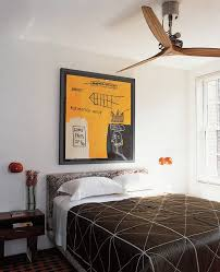 Houzz Ceiling Fans Bedroom Contemporary with Art Artwork Bedding Bedroom