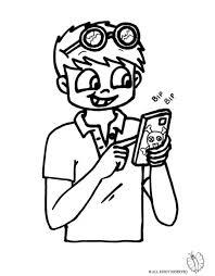 Disegno Bambino Con Telefonino Disegni Da Colorare E Stampare