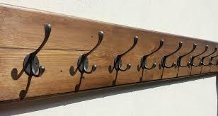 10 Hook Coat Rack Chunky Vintage Style Wall Mounted Wooden Coat Rack 1000 to 100 Hooks 3