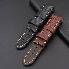 loose new without tags fast delivery men 22mm 24mm watch leather strap genuine leather watch band