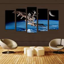 5 Panel Space ship Canvas Painting Wall Art Picture Home Decoration wall  pictures forLiving