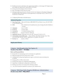 Fresh Weblogic Administration Sample Resume B4 Online Com