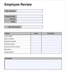 Simple Employee Review Employee Performance Review Template Employee Performance