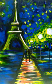 Eiffel Tower - easy to paint!