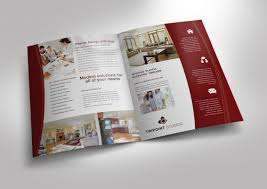 Half Fold Brochure template for Design Company Marketing Materials ...