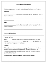A loan agreement template would be beneficial to use when one is going to decide the terms for a specific loan. Business Loan Agreement Template Addictionary