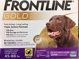 Frontline Gold For Dogs 4588 Lbs Purple 6 Month