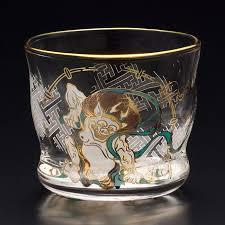 iuka glass ade rear glass of the wind of thunder liquor glass pair set 100 ml in capacity 2 set