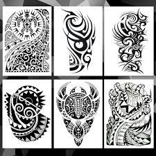 Vodotěsný Dočasné Tetování Nálepka Arm Totem Kmene Vzor Tetování
