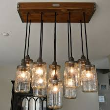 mason jar lighting fixture. handcrafted 14 mason jar pendant light chandelier w rustic style wood crate canopy 69900 lighting fixture