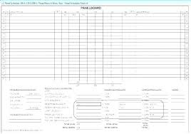 Load Schedule Design Panel Template Templates Electrical
