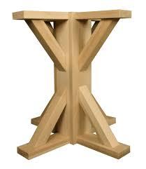 Licious Craftsman Square Pedestal Table Base Diy