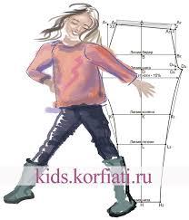 Выкройка <b>детских</b> леггинсов от Школы шитья <b>Анастасии Корфиати</b>