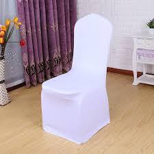 <b>25</b> 50 100 <b>PCS</b> Universal White Stretch Spandex Dining <b>Chair</b> ...