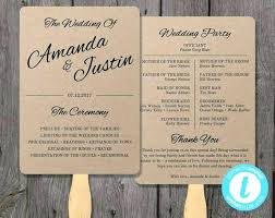 Wedding Program Fans Cheap Wedding Program Fans Template Printable Fan Instant Download Edit