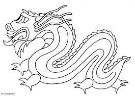 Kleurplaat Chinese Draak Onderwijs Ideeën Dragones Para Colorear