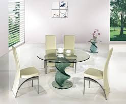 twirl glass round dining table clear table only larger image
