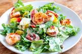 asian style shrimp caesar salad