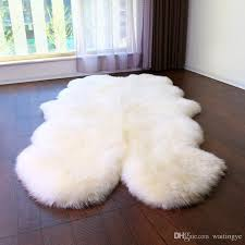 wonderfur sp1108 4p quad sheepskin rug 100 200cm gy sheep skin carpet for home decor bed mat blanket ground mat check carpets frieze carpet s from