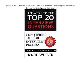Job Interview Books Best Books Answers To The Top 20 Interview Questions Conquering T
