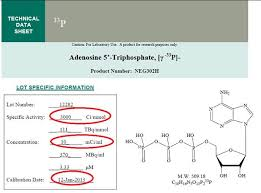 radiochemical calculations specific