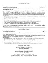 Manager Resume Operations Sample Peppapp