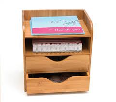 Desk Organizer Amazoncom Lipper International 4 Tier Mini Desk Organizer Brown