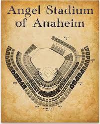 Amazon Com Angel Stadium Of Anaheim Baseball Seating Chart