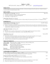 resume - Engineering Internship Resume Sample