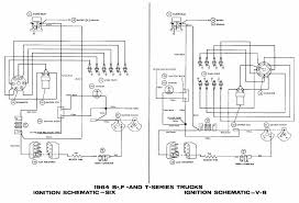 ignition schematic diagram of 1964 ford 6 and v8 b f and t series trucks jpg ford ignition coil wiring diagram ford auto wiring diagram schematic 1000 x 683