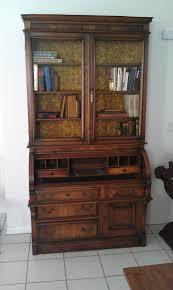 antique secretary desk with bookcase mini wood stove