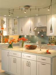 fixed and hanging lights on a track illuma flex track lighting installed in a kitchen from progress lighting