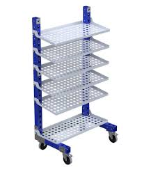 Transport cart / stainless steel / shelf / with swivel casters - Q-100-0547