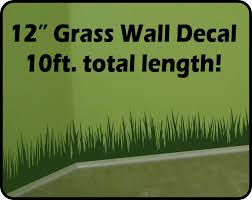Tall Grass Wall Decal border (10 ft total length) - removable ...