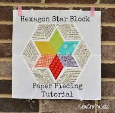 Hexagon Star Quilt Pattern Free 1000 images about foundation ... & Hexagon Star Quilt Pattern Free 1000 images about foundation piecing on  pinterest patterns Adamdwight.com