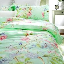 colorful horse printing abstract bedding set white duvet cover double queen king size bedclothes