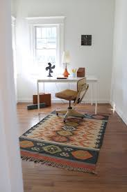 carpet for home office. Mid Century Modern Vintage Style With Kilim Rug Eclectic-home-office Carpet For Home Office E