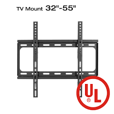 loctek f2s ul certified fixed flat panel tv wall mount bracket for most 32 inch