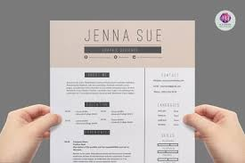 Modern Two Page Cv Template Resume Templates On Thehungryjpeg