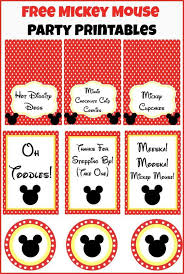 Mickey Mouse Party Printables Free Free Mickey Mouse Party Printables From Playpartyplan Com Perfect