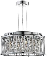 searchlight 8334 4cc elise chrome crystal ceiling light pendant loading zoom