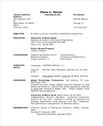 Cv Samples For Engineering Students Sample Cv 8 Examples In Word Pdf