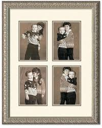 4 opening collage frame imperial silver 4 opening collage 2 rows and off white double mat 4 opening collage frame