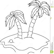 Palmiers De Livre De Coloriage Illustration De Vecteur Image