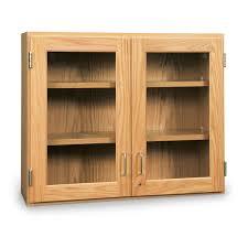 wall mounted storage cabinet 36 x 12 x 30 glass doors with glazed oak frame