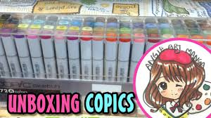 Copic Markers Sketch 72 Color Set A Unboxing First Look